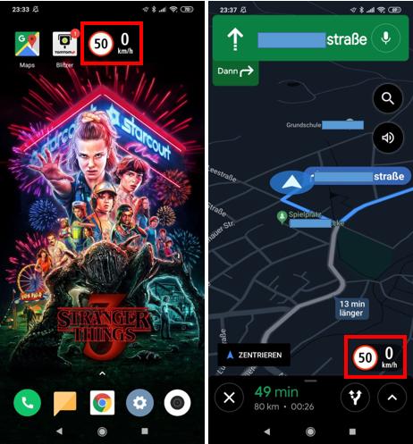 Google Maps Erlaubte Geschwindigkeit Anzeigen